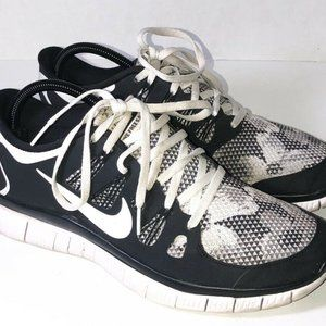 Nike Womens Free 5.0 Running Shoes Black Color Blo